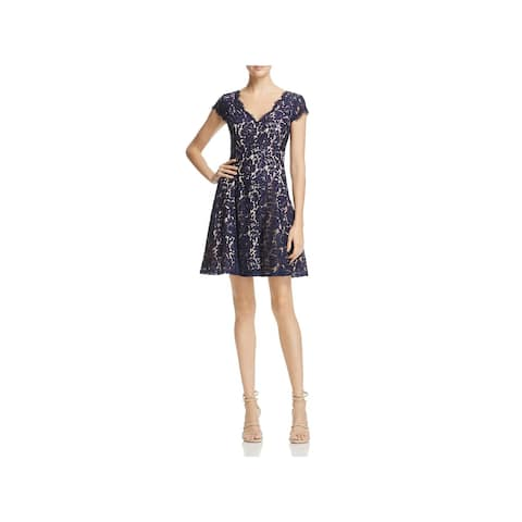 a7957316f1f Eliza J Womens Cocktail Dress Lace Fit   Flare