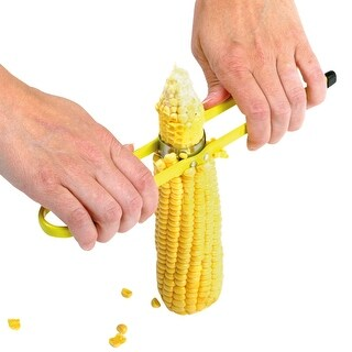 Norpro Deluxe Corn on the Cob Cutter - Stainless Steel Adjustable Corn Peeler