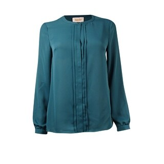 Laundry by Shelli Segal Women's Pleated-Front Chiffon Blouse