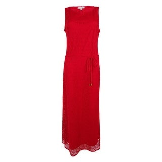 Sandra Darren Women's Sleeveless Lace Maxi Dress