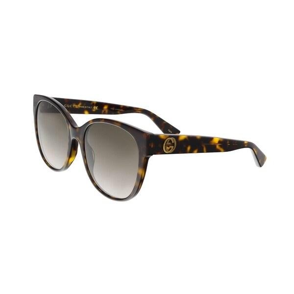 052cadacca Shop Gucci GG0097S 002 Havana Round Sunglasses - Free Shipping Today ...