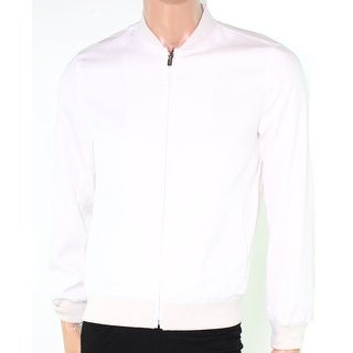 Alfani NEW Silver Mens Size Small S Colorblock Full-Zip Bomber Jacket