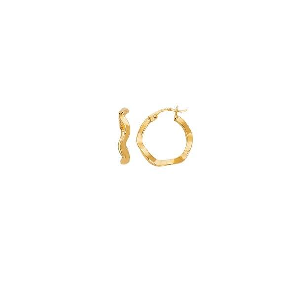 Mcs Jewelry Inc 14 KARAT YELLOW GOLD TWISTED HOOP EARRINGS