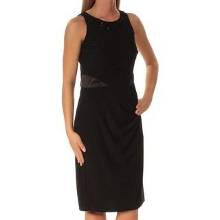 AMERICAN LIVING $89 Womens New 1229 Black Sleeveless Sheath Dress 2 B+B