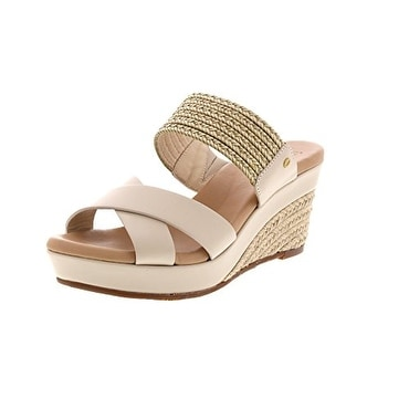 d64c4b3dab14 Shop UGG Women s Adriana Sandal Horchata - Free Shipping Today - Overstock  - 19863994