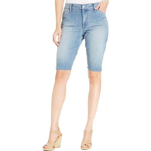 NYDJ Womens Bermuda Shorts Denim Slimming