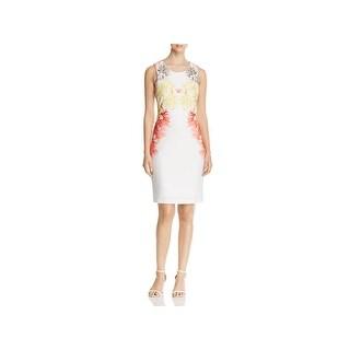 Calvin Klein Womens Scuba Dress Floral Sleeveless