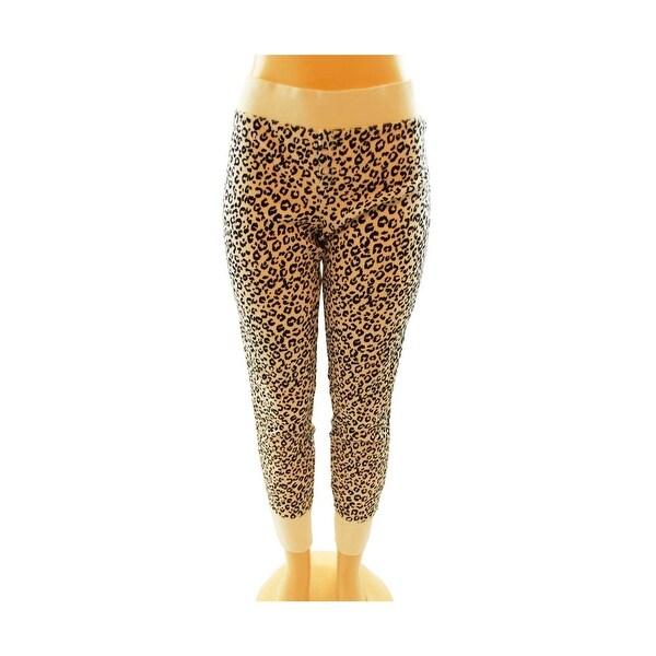 0478846e07b39 Victoria's Secret Cotton Long Jane Pajama Sleep Pants Leopard Black/White L  - Large