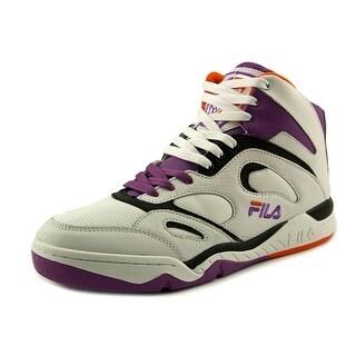 Fila KJ7 Men Round Toe Leather White Basketball Shoe