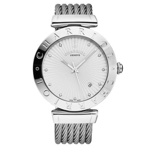 Charriol ALS.51A.122 'Alexandre C' Silver Dial Stainless Steel Swiss Quartz Watch