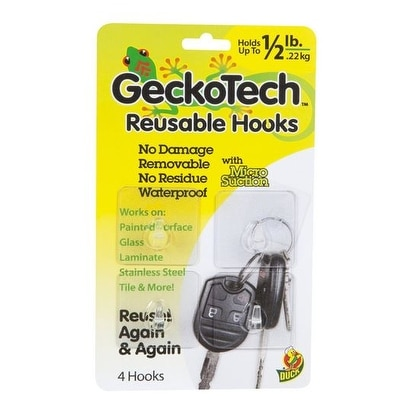 GeckoTech 282311 Reusable Hooks with Microsuction Technology