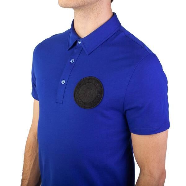 91c7c8f4 Shop Versace Collection Men's Pima Cotton Circular Medusa Polo Shirt ...