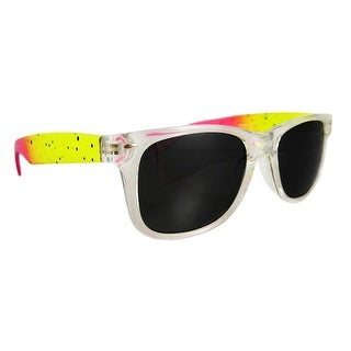 Neon Yellow / Pink Retro 80`s Style Sunglasses