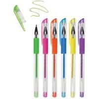 Brights-Living In Color Color-Flow Glitter Gel Pen Set 6/Pkg