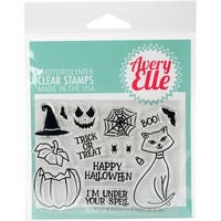 """Avery Elle Clear Stamp Set 4""""X3""""-Bad Kitty"""