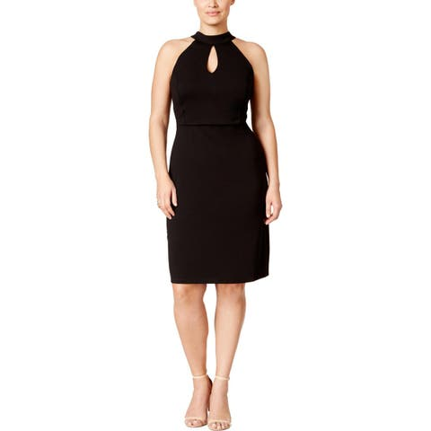 Love Squared Womens Plus Party Dress Sleeveless Knee-Length