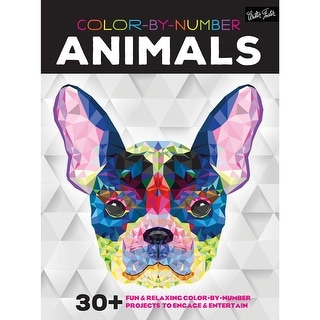 Walter Foster Creative Books-Color By Number - Animals