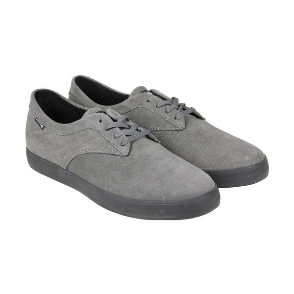 HUF Sutter Mens Grey Suede Lace Up Sneakers Shoes HpJg6K84M