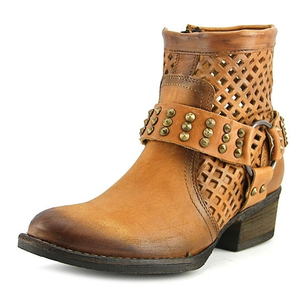 Very Volatile Mitch Women Round Toe Leather Combat Boot