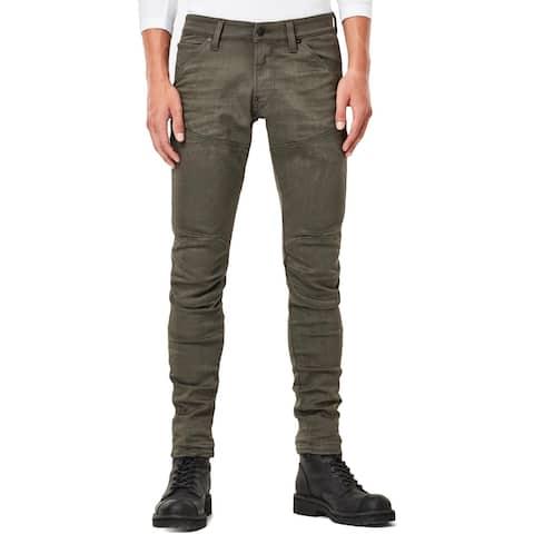 G-Star Mens 3D Super Slim Jeans Distressed 5-Pocket