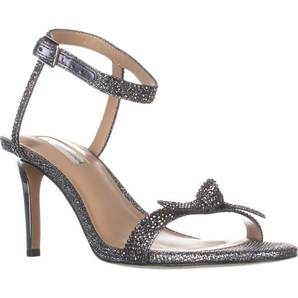 I35 Laniah Ankle Strap Evening Sandals, Pewter
