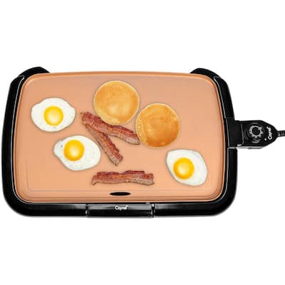 Caynel 16 inches Professional Electric Griddle with Smoke less Non-Stick Coating