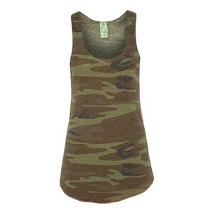 Women's Printed Meegs Eco-Jersey Racer Tank - Camo/ Eco True Military - 2XL