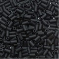 Toho Bugle Tube Beads Size 1 / 2x3mm Opaque Frosted Jet 8 Grams - Thumbnail 0