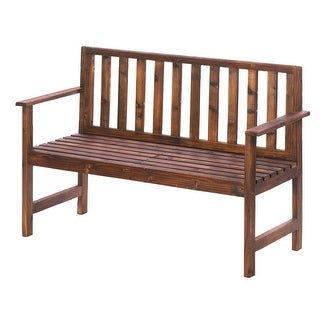 Incredible Garden Grove Wood Bench Overstock Com Shopping The Best Deals On Outdoor Benches Pdpeps Interior Chair Design Pdpepsorg