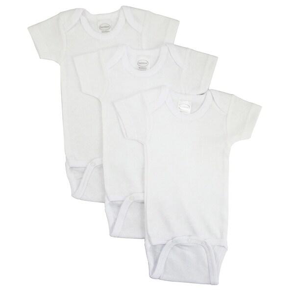 Bambini White Short Sleeve One Piece 3 Pack - Size - Large - Unisex