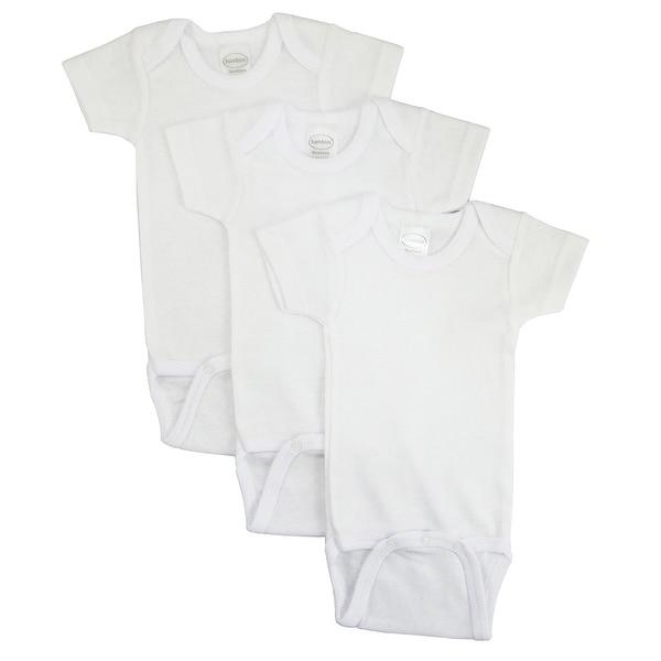 Bambini White Short Sleeve One Piece 3 Pack - Size - Medium - Unisex