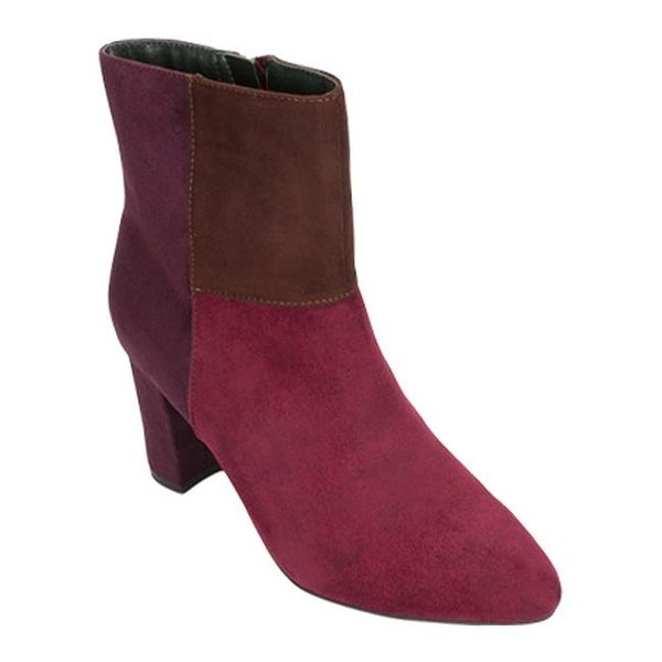 0b84804cd48 Shop Rialto Women's Mora Ankle Boot Merlot/Multi Suedette/Synthetic ...