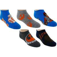 Star Wars No-Show Assorted Socks, 5 Pack