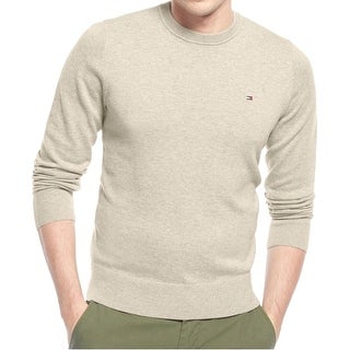 Tommy Hilfiger NEW Beige Mens Size Large L Pullover Crewneck Sweater