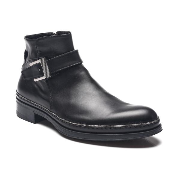 b3c0d8f6de7 Shop Cesare Paciotti Men Leather Dan Calf Boots Black - Free ...
