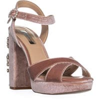 I35 Rossaria Platform Ankle Strap Sandals, Dark Blush