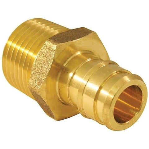 Apollo EPXMA1210PK Male Pipe Adapter, Brass, 1/2""