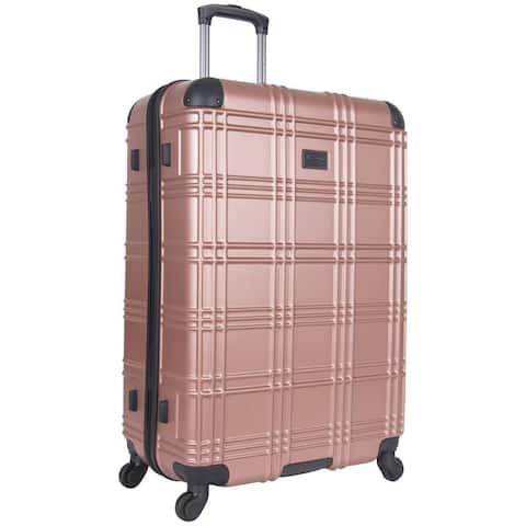 Ben Sherman 'Nottingham' 28-inch Lightweight Hardside 4-wheel Spinner Upright Checked Suitcase