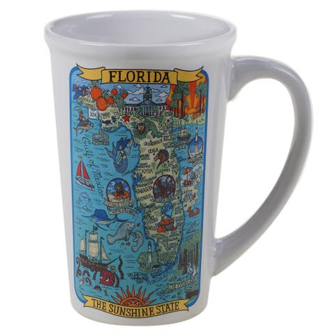 Certified International Florida Souvenir 22 oz. Jumbo Mugs (Set of 6)