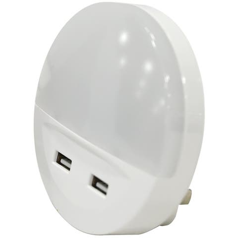 Sylvania 60143 Night Light With USB Ports, .5 Watts, 120 Volts