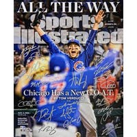 2016 Chicago Cubs Team Chicago Cubs 2016 World Series Anthony Rizzo Sports Illustrated Cover 16x20
