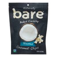 Bare Fruit Coconut Chips - Toasted - Case of 12 - 3.3 oz