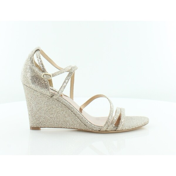 Badgley Mischka Bonanza Women's Sandals & Flip Flops Platinum Glitter - 8.5