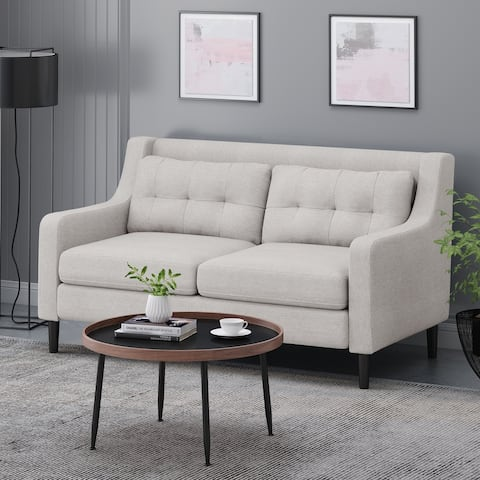 """Galene Contemporary Fabric Loveseat by Christopher Knight Home - 58.00"""" W x 33.50"""" L x 34.50"""" H"""