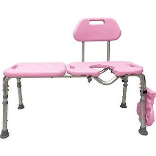 Bath Transfer Bench with CUTOUT, Deluxe ALL-ACCESS for Tub and Shower Transfers