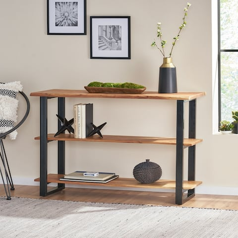 Rooker Acacia Wood Console Table by Christopher Knight Home