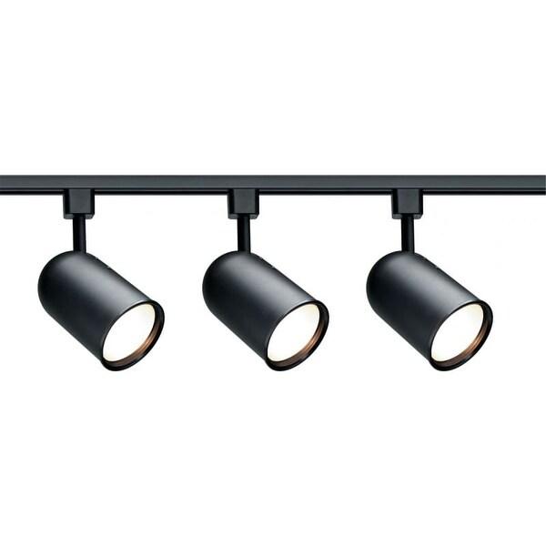 Nuvo Lighting TK323 Three Light R30 Bullet Cylinder Track Kit - Black