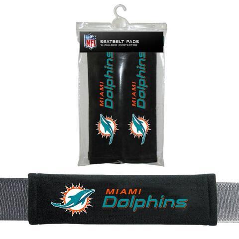 FREMONT DIE Inc Miami Dolphins Seat Belt Pad 2 Pack Seat Belt Pad 2 Pack