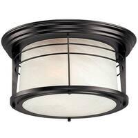 Westinghouse 6674648 Exterior Flush Ceiling Light Fixture, Bronze, Glass