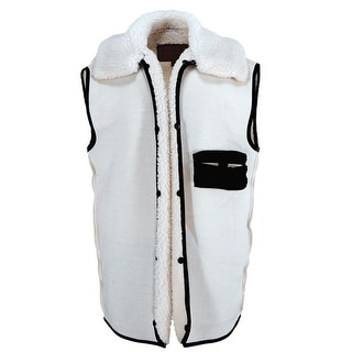 Link to Outback Trading Western Vest Mens Wool Button Liner Natural Similar Items in Women's Outerwear